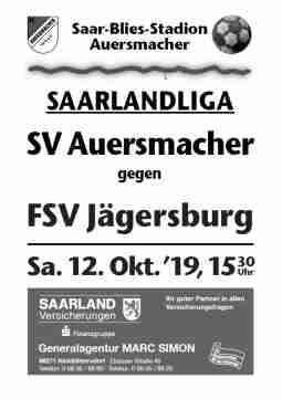 Stadionzeitung SVA – FSV Jägersburg 12.10.2019