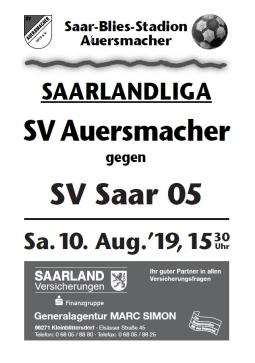 Stadionzeitung SVA – SV Saar 05 10.08.2019