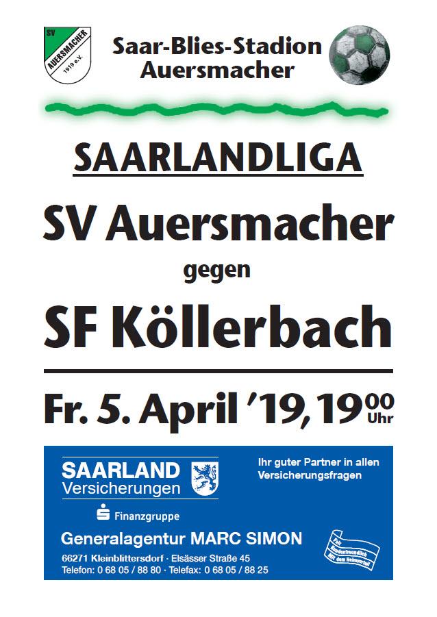 Stadionzeitung SVA – SF Köllerbach 05.04.19