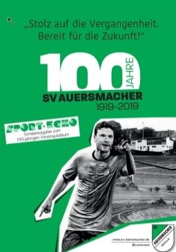 """Sonderausgabe """"Festschrift"""" zum 100 jährigen Bestehen des SVA"""