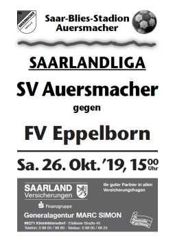 Stadionzeitung SVA – FV Eppelborn 26.10.2019