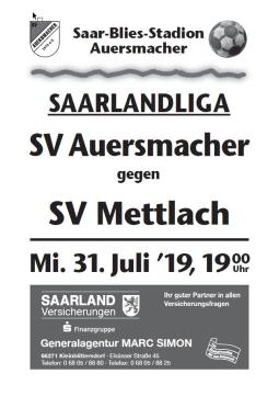 Stadionzeitung SVA – SV Mettlach 31.07.2019