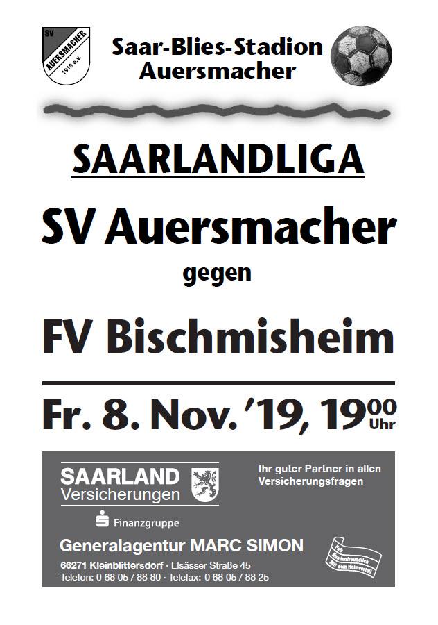 Stadionzeitung SVA – FV Bischmisheim  08.11.2019