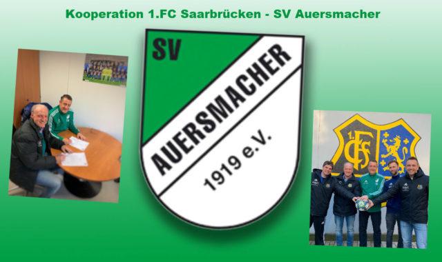 1. FC Saarbrücken – SV Auersmacher Kooperation in der Jugend!