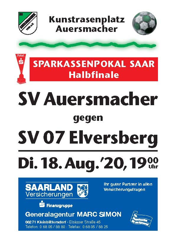 Stadionzeitung SVA – SV Elversberg 18.08.2020