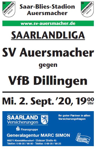Stadionzeitung SVA – VfB Dillingen 02.09.2020