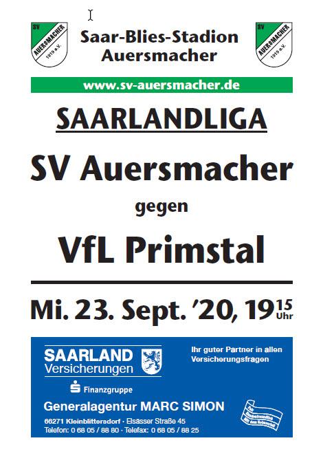 Stadionzeitung SVA – FfLPrimstal 23.09.2019