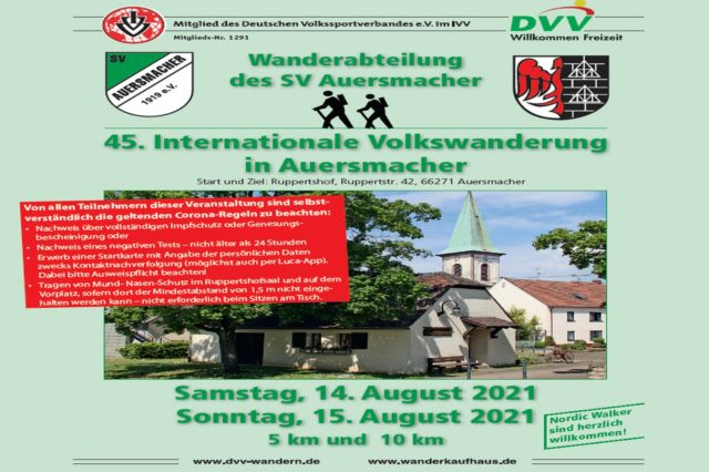 45. Internationale Volkswanderung in Auersmacher